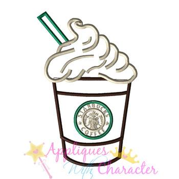 Coffee Drink Applique Design