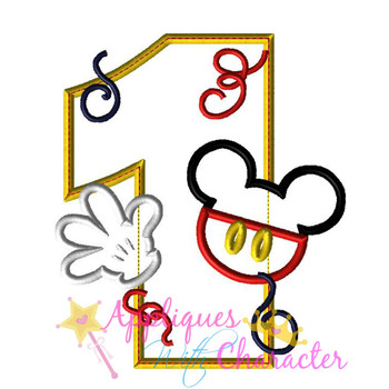 Mr Mouse One Applique Design