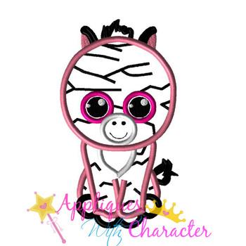 Beanie Boo Pink Zebra Applique Design
