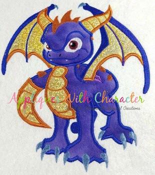 Skye Spyro Dragon Applique Design