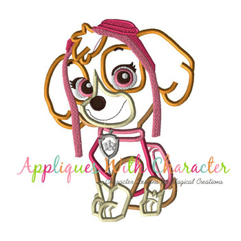 Pup Patrol Skye Applique Design