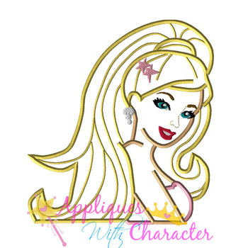 Fashion Doll Applique Design Movie Bust
