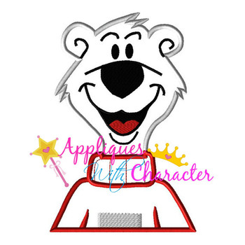 Icee Polar Bear Applique Design