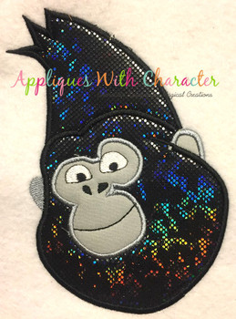 Sing Johnny Gorilla Applique Design