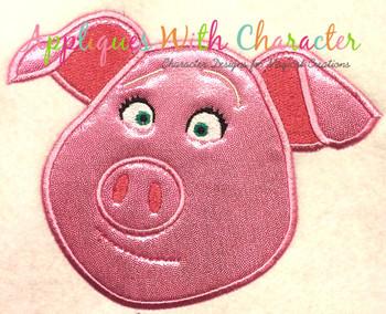 Sing Rosita Pig Applique Design