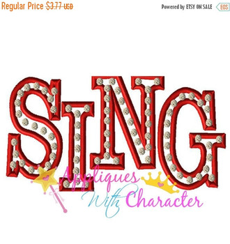 Sing Movie Logo Applique Design