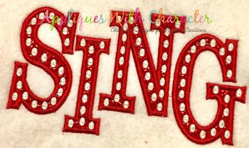 Sing Logo Applique Design
