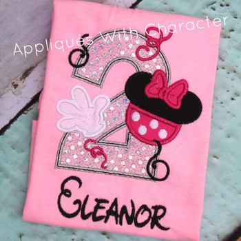 Miss Mouse Two Applique Design
