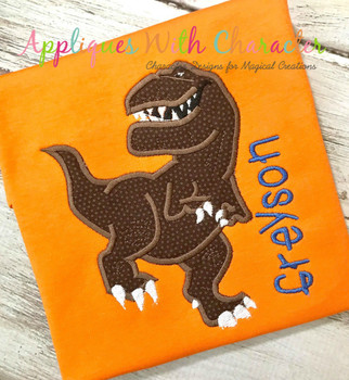 Butch Good Dinosaur T-Rex Applique Design