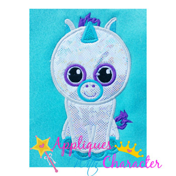 Beanie Boo Unicorn Applique Design