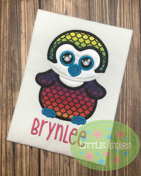 Beanie Owl Applique Design