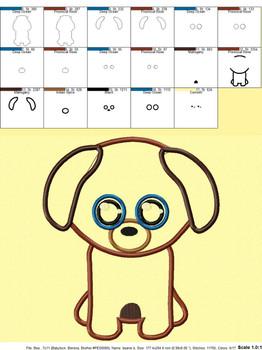 Dog Applique Design