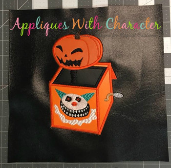 Nightmare Before Christmas Jack In The Box Applique Design