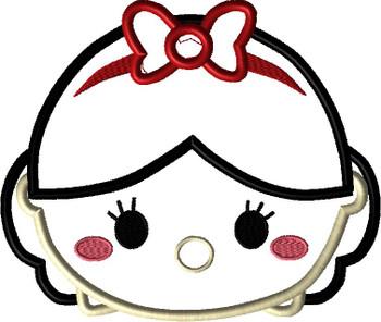 Snow Girl Tsum Tsum Applique Design