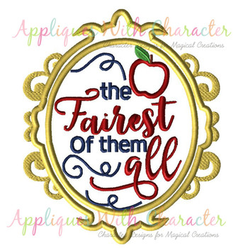 Snow Girl Exclusive Fairest Of All Mirror Applique Design