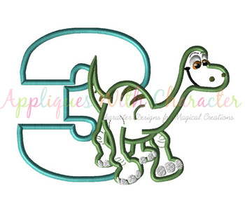Good Dinosaur Three Applique Design