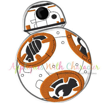 Star Battle BB8 Applique Design
