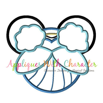 Cindy Mr Mouse Head Applique Design