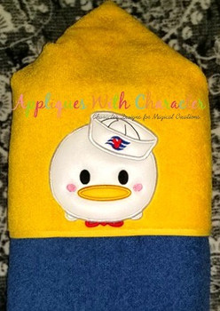 Don Duck Cruise Tsum Tsum Applique Design