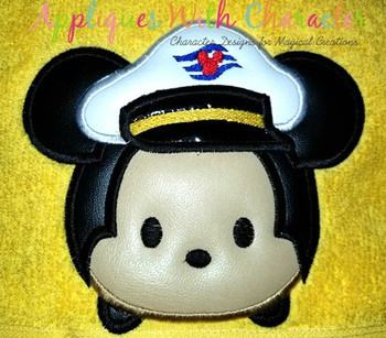 Mr Mouse Captain Cruise Tsum Tsum Applique Design