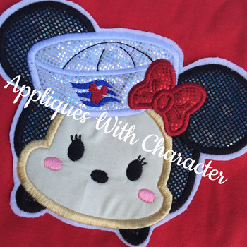Minnie Cruise Tsum Tsum Applique Design
