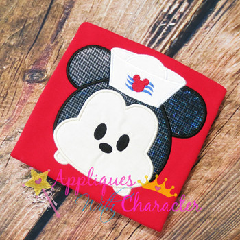Mickey Sailor Cruise Tsum Tsum Applique Design