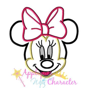 Minnie Face Applique Design