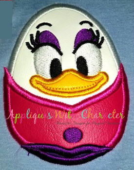 Daizy Duck Easter Egg Applique Design