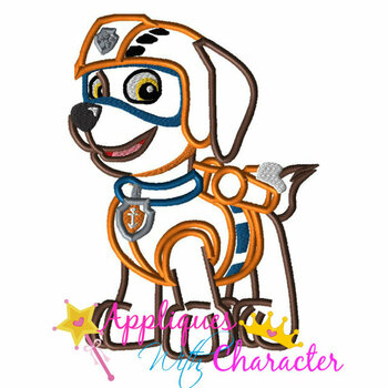 Paw Patrol Zuma Applique Design