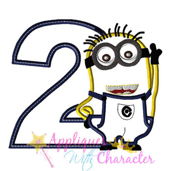 Minion Two Applique Design