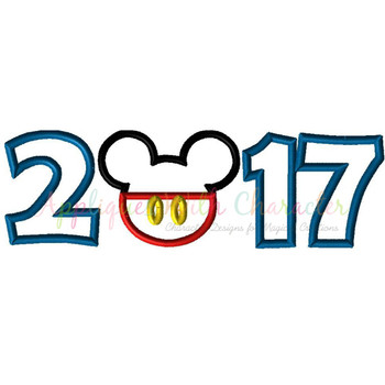 2017 Mr Mouse Head Applique Design