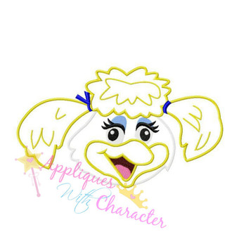 Chuck E Cheeze's Hellen Henny Bird  Applique Design