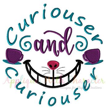 Alyce Curiouser and Curiouser Applique Embroidery Design