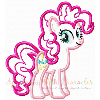 MLP Pinky Pony Applique Design