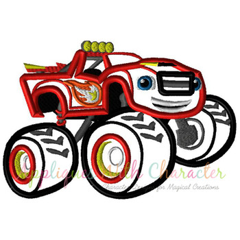 Blaze Monster Truck Applique Design