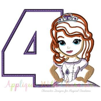 Sofia First Four Applique Design