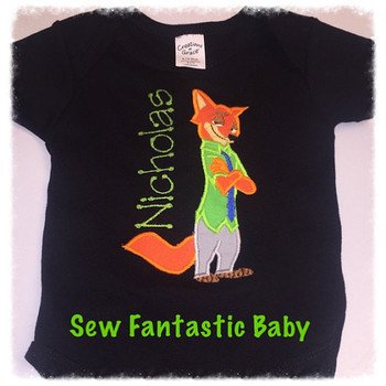 Zoo Fox Applique