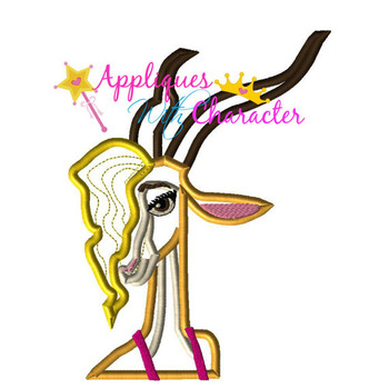 Zoo Gazelle Applique