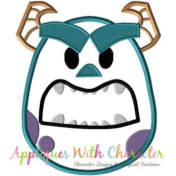 Monster Sullee Emoji Applique Design