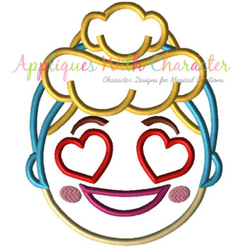 Cindy Emoji Applique Design