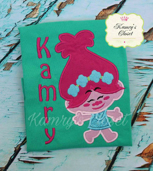 Troll Pop Cutie Applique Design