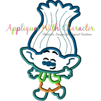 Troll Branch Cutie Applique Design