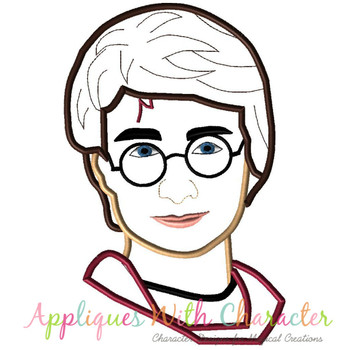 Harry Wizard Bust Applique Design