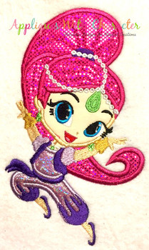 Shimmy and Shiny Genie Applique Design