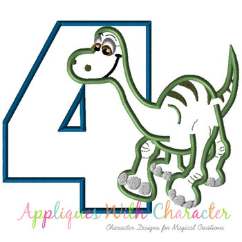 Dinosaur Four Applique Design