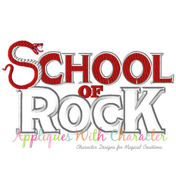 School Of Rockers Applique Design
