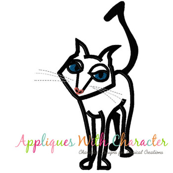Cori Black Cat Applique Design