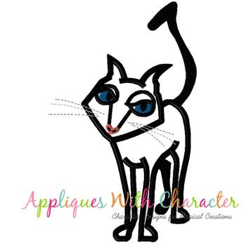 Cori Black Cat Applique Design