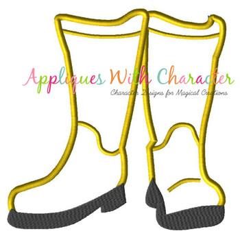Cori Boots Applique Design
