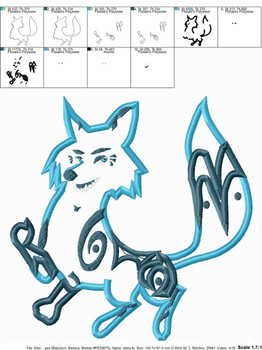 Eleena Zuzo Fox Applique Design
